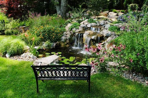 Backyard Pond and Waterfalls (Long Island/NY)