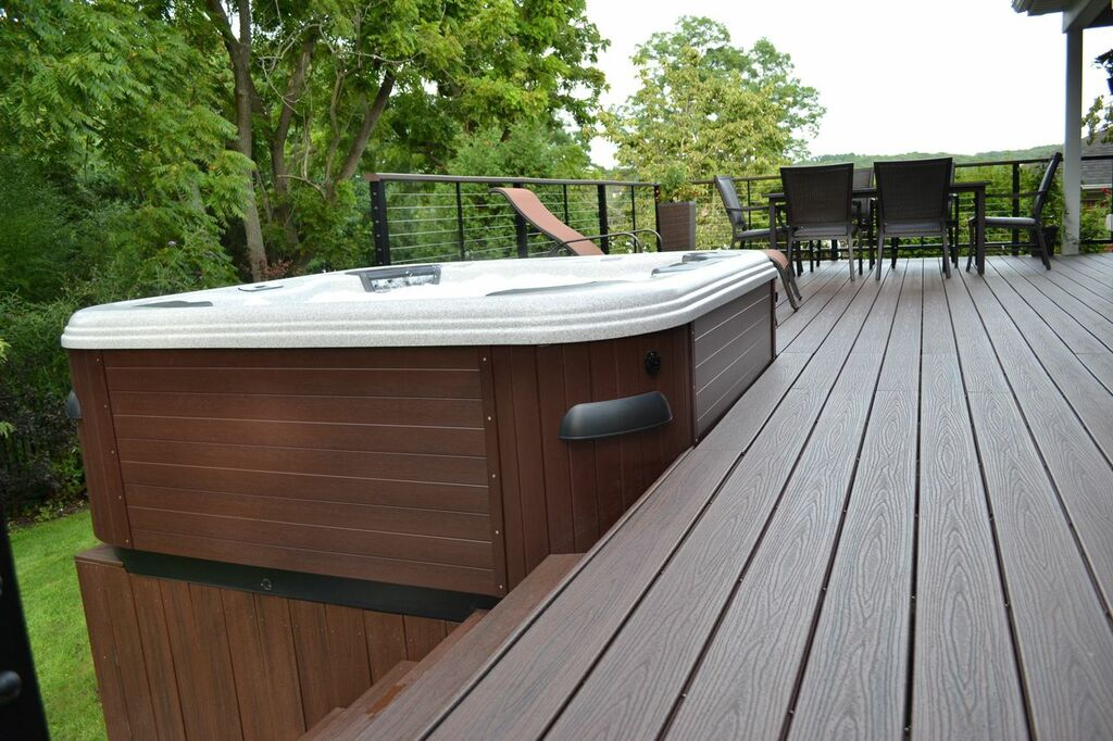 Trek decking cape cod 100 decks joist span joist spacing for Ready made decking frame