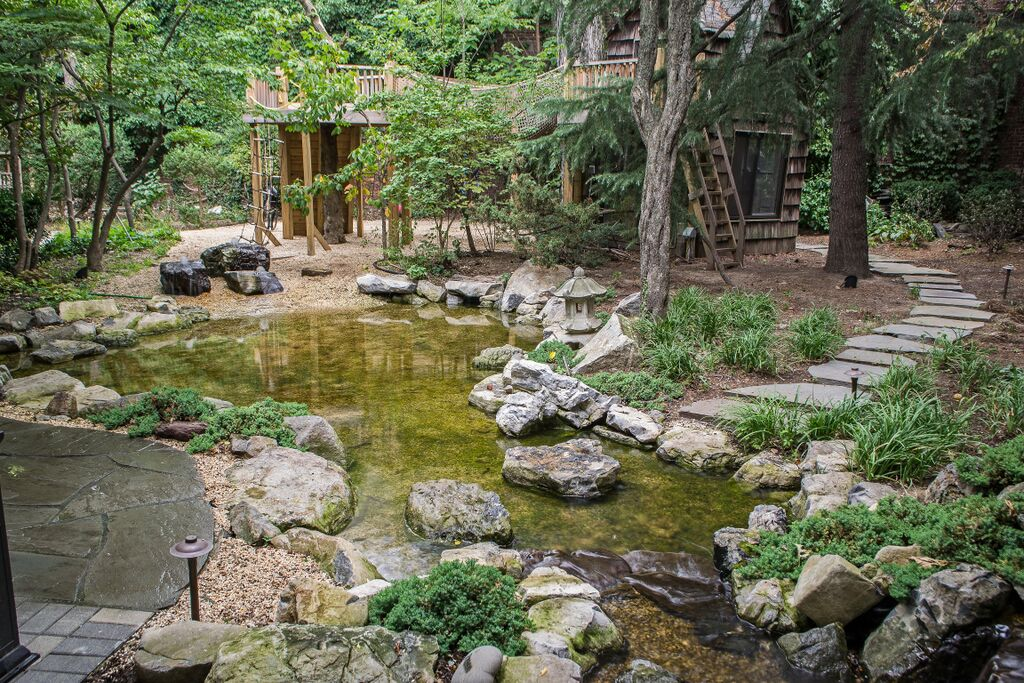 Natural Playscape with Pond: