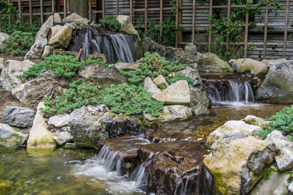 Backyard Waterfalls and Stream: