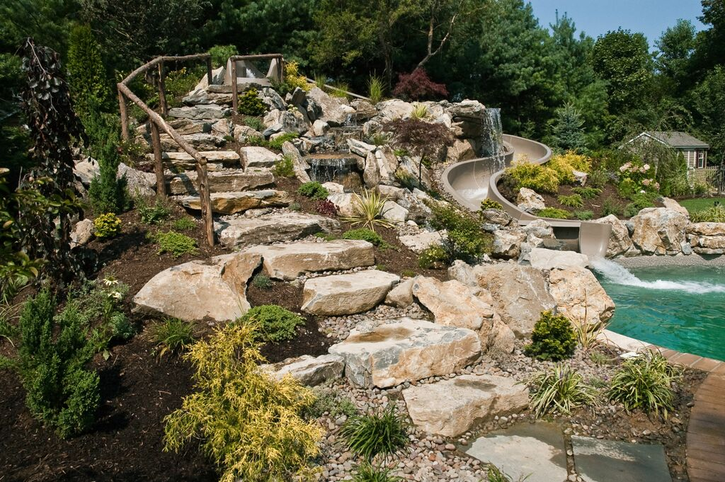 Natural Stone Steps: