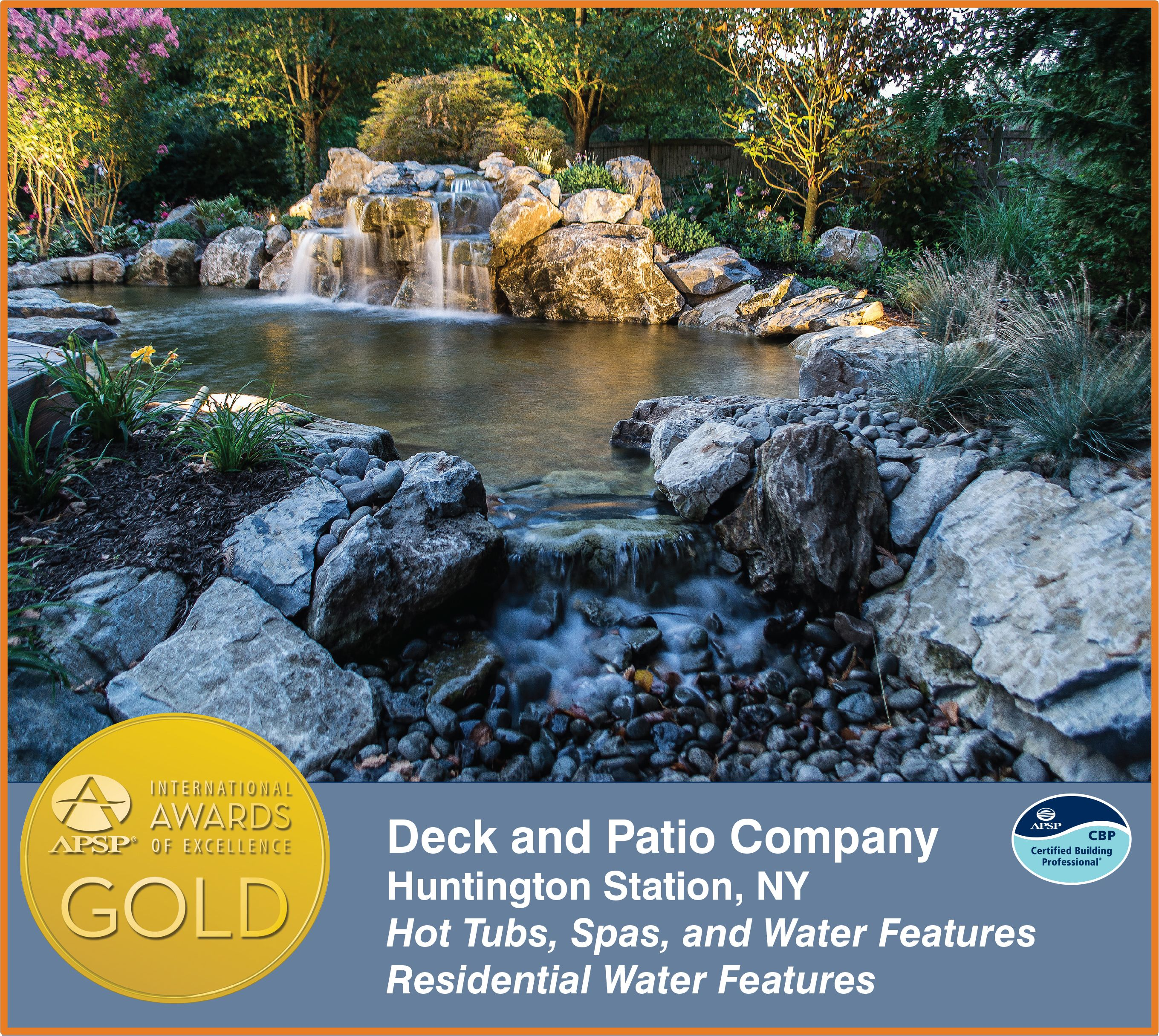 Deck and Patio's APSP Gold Award (Islip, NY):