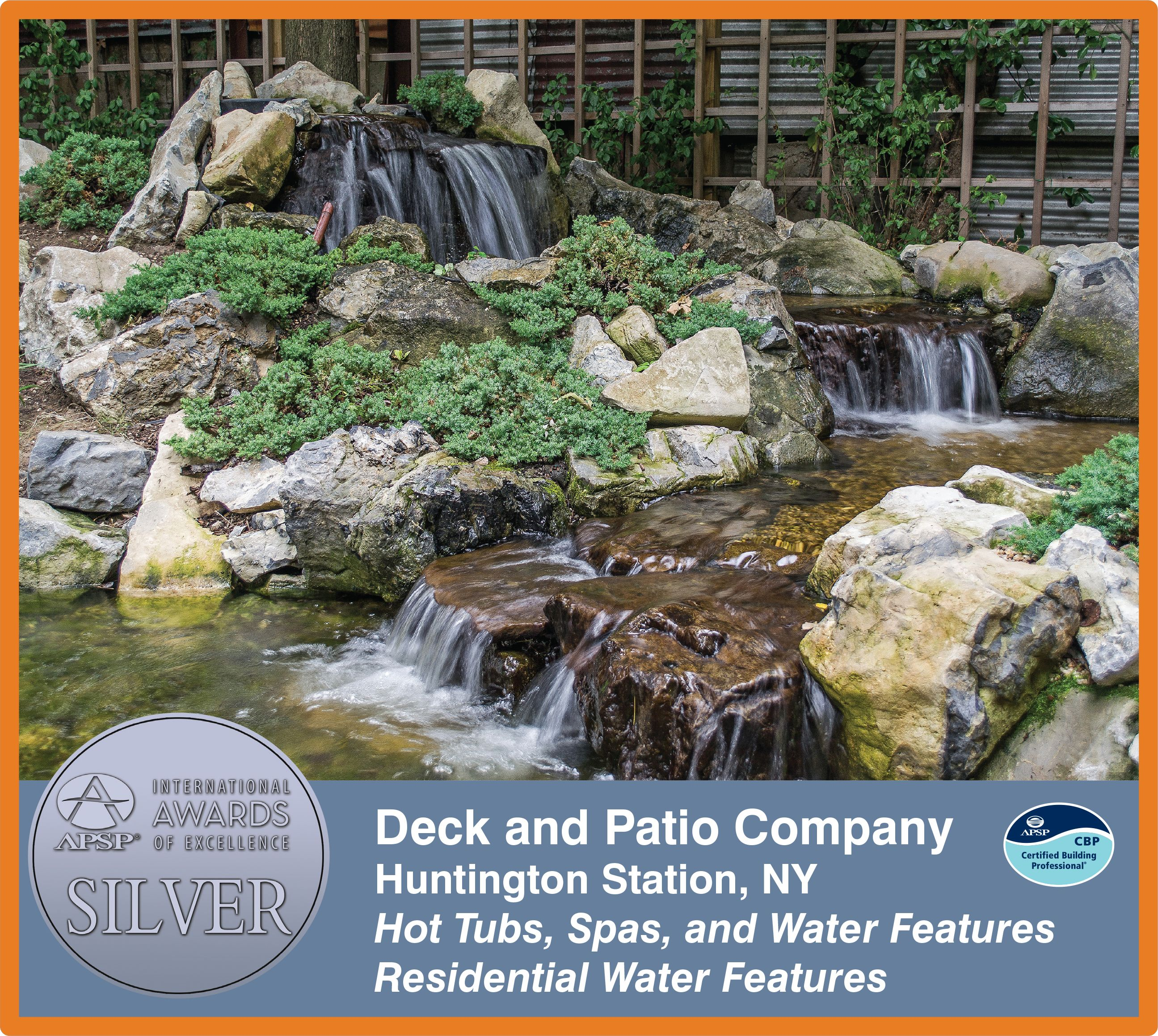 Deck and Patio's APSP Silver Award (Brooklyn, NY):