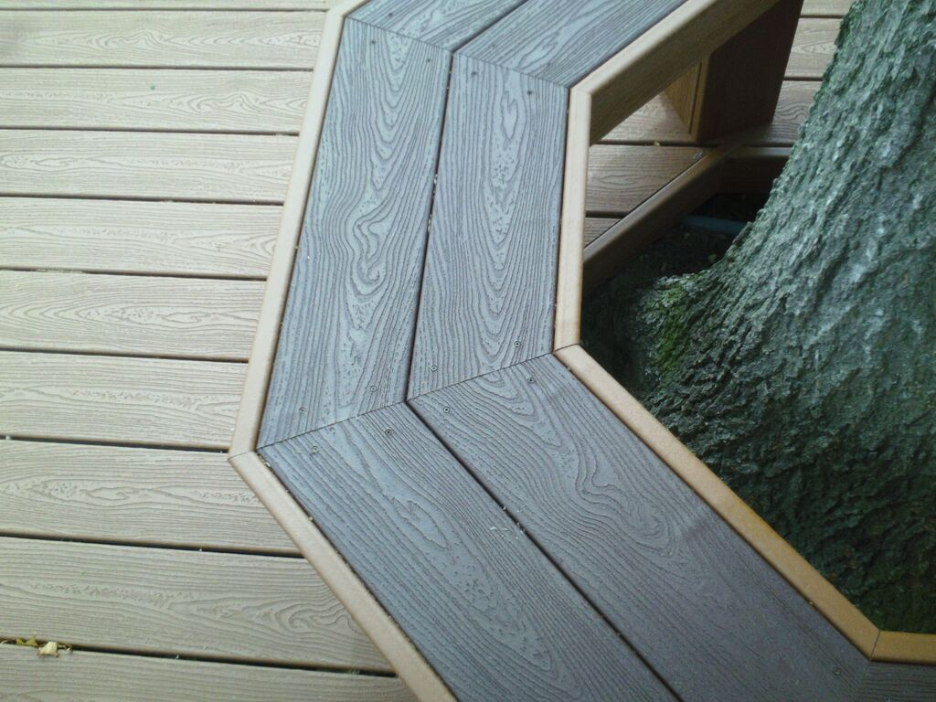 Trex Decking and Custom Bench: