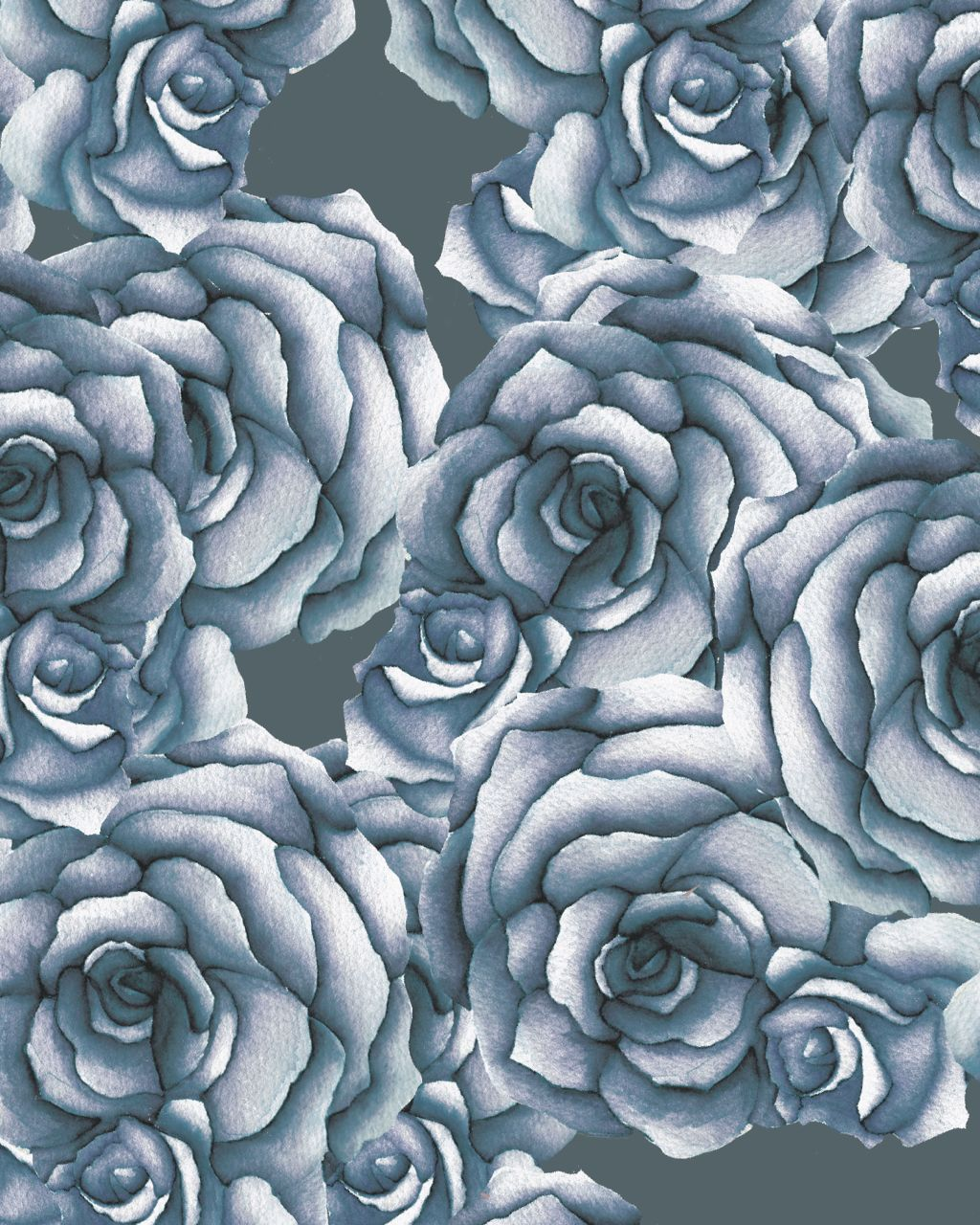 "Candice Kaye experimented with a little whimsy as she developed her custom ""Roses Are Blue"" design for a client. ""I like to capture what's been done by Nature, but also make it more exciting by playing with scale and letting florals dominate in a design,"" she says."