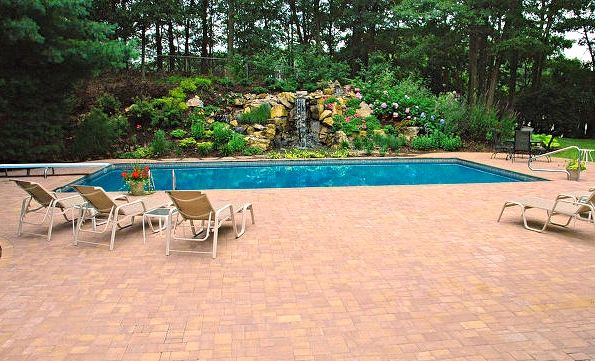 After Photo of Pool/Retaining Wall