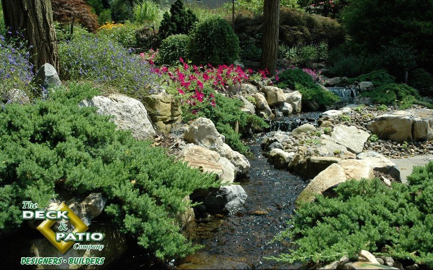 Backyard Streams with Landscaping: