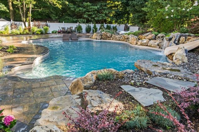 vinyl lined pool and backyard retreat