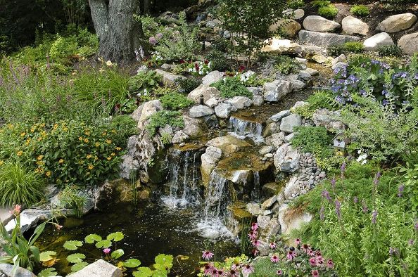 Ponds with Waterfalls: