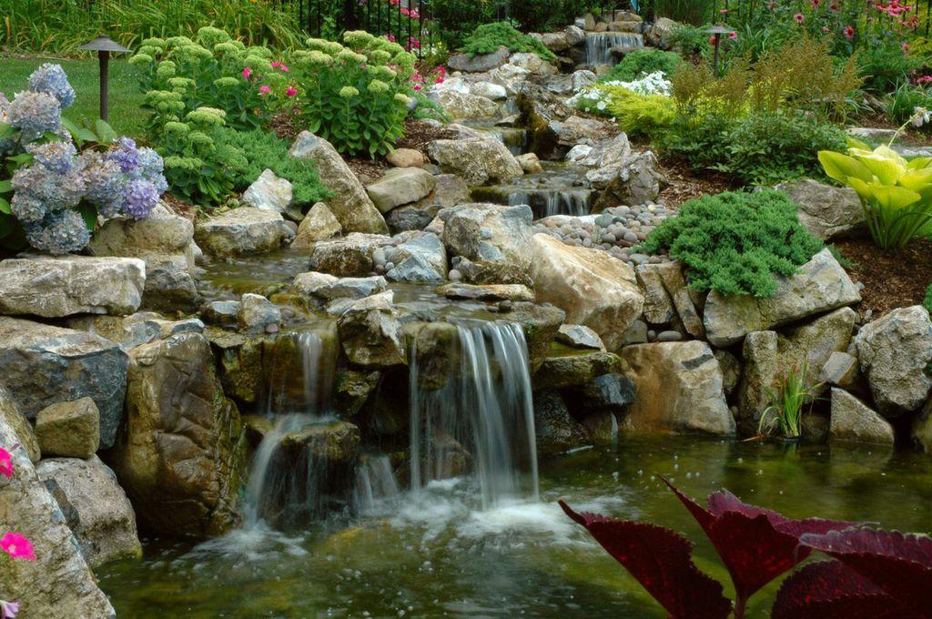 Koi ponds for Koi pond hiding places