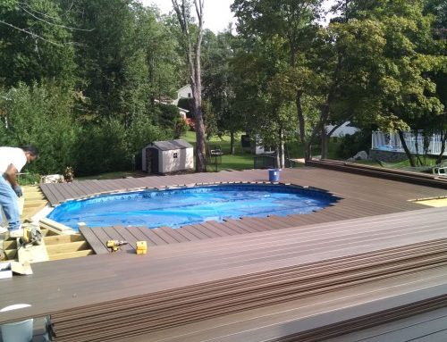 In ground pool with spillover spa there s more than one for Pool design long island ny