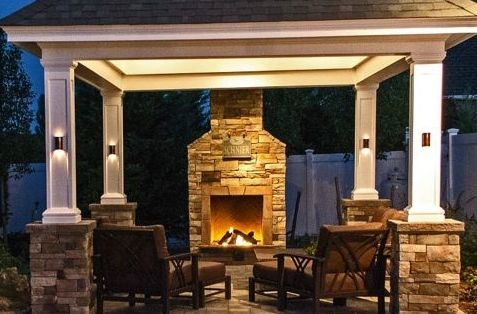 Custom Outdoor Fireplace: