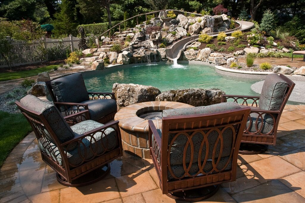 Charmant Pools With Water Features: Deck And Patio Called Back To Tennessee
