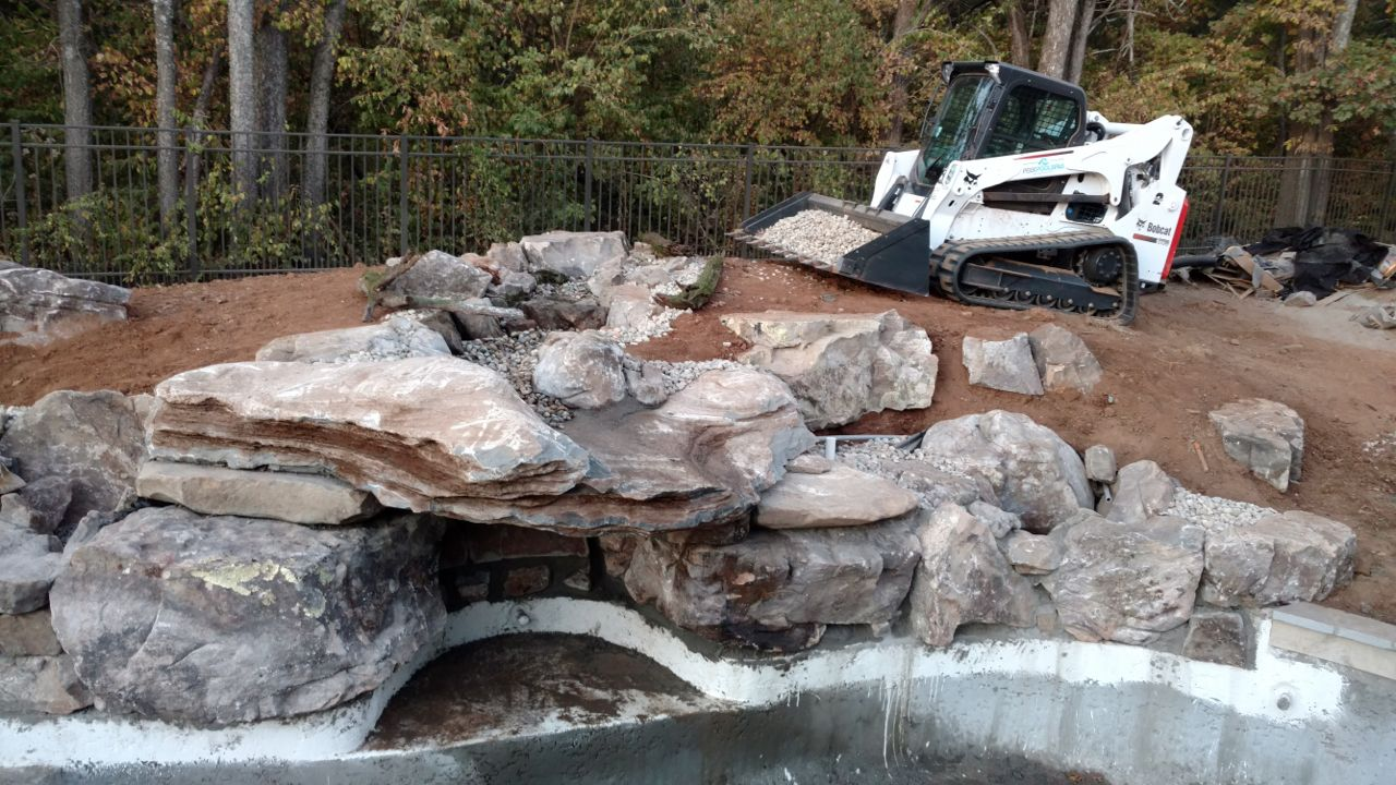Waterfall/Grotto Project in Franklin, TN: