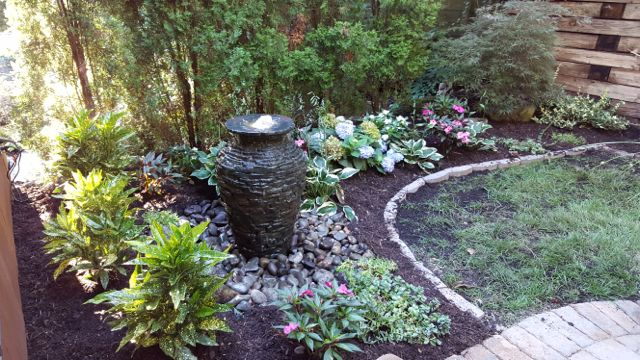 Fountainscapes: Of course, winter isn't the only time of year you'll appreciate a water feature; even a simple fountain will provide the delightful sound of moving water and a picturesque setting.
