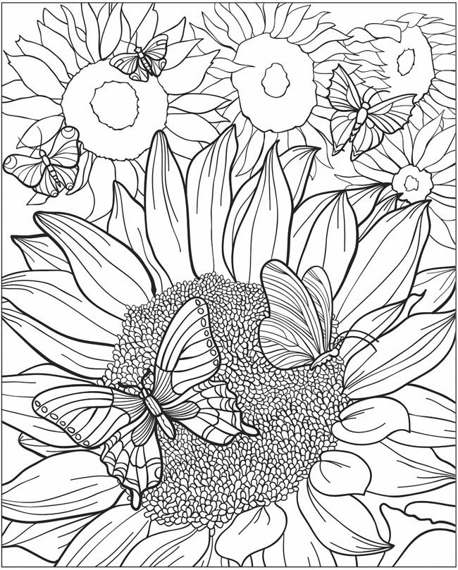Adult Coloring Art: If you need to think of Spring at any time during a snow storm, just click on this artwork, print, then color…or use your smart pen (stylus) on your iPad etc.