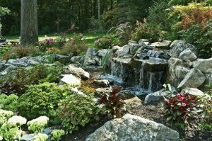 Deck and Patio Pondless Waterfall