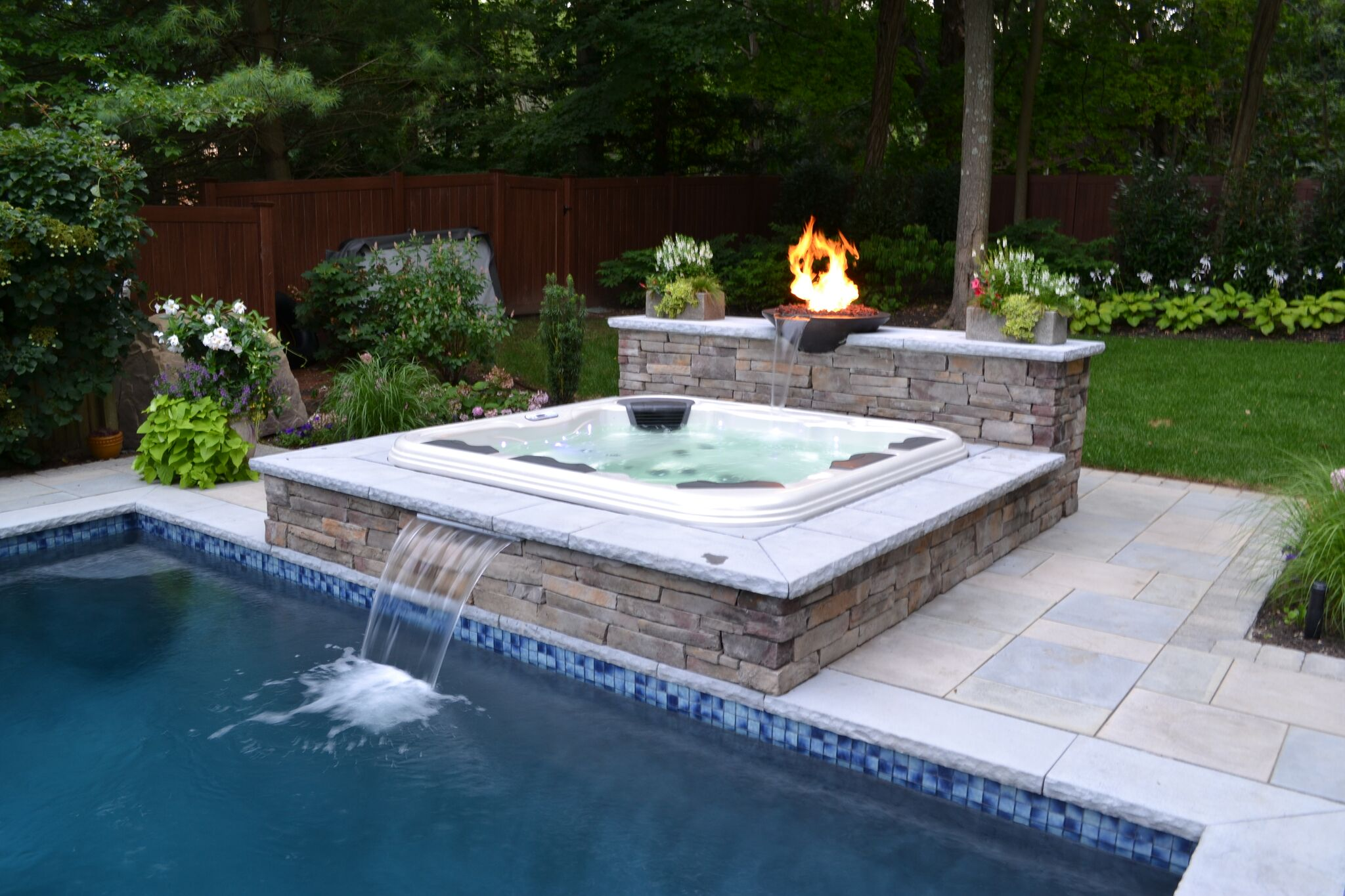 Hot Tub Added to Existing Pool: