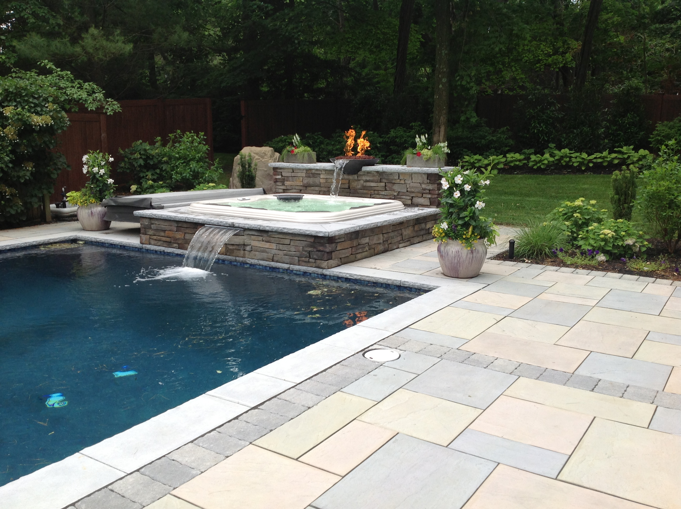Travertine Pavers Over Concrete Pool Deck Tumbled