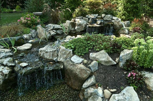 Moss Rock Make Natural Looking Water Features: