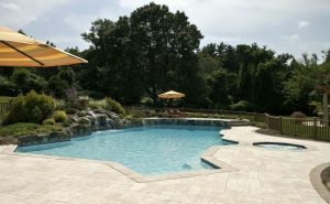 Deck and Patio Travertine Pool Surround