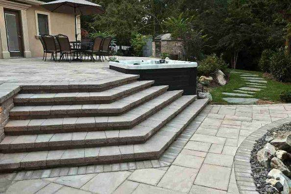 Techo-Bloc Patio and Steps: