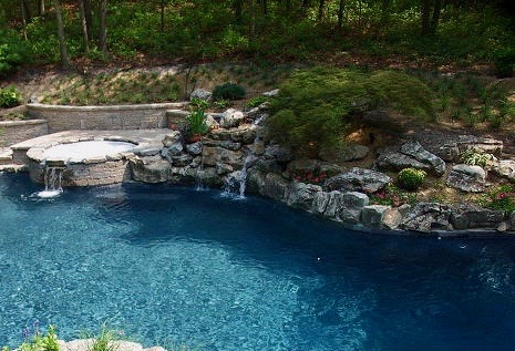 Pool/Spa Landscaping (Huntington/NY):