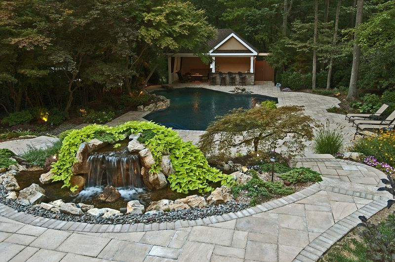 Backyard Water Feature: