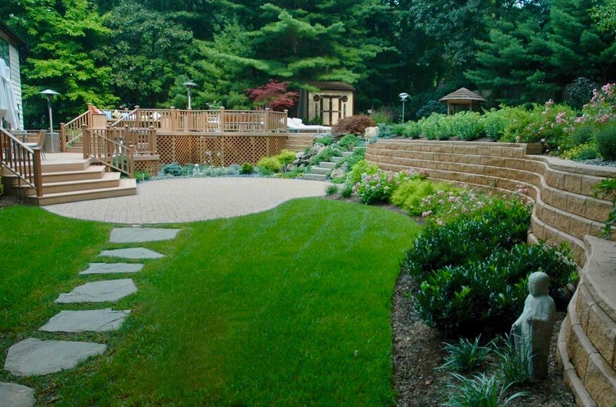 Contemporary Landscape Design Front Back And In Between The