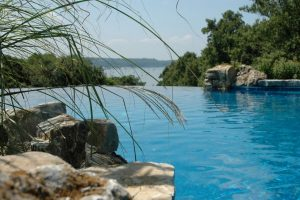 Deck and Patio Infinity Pool, Cove Neck, Oyster Bay, NY: