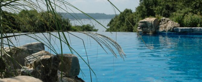 Deck and Patio Infinity Pool, Cove Neck, NY: