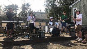 L-R, Keys/Owen Zahradnik, Guitar/Jon Swiss, Drums/Joey McConnell, Bass/Paul Vomvas, and Guitar/Matt Jaronczyk)
