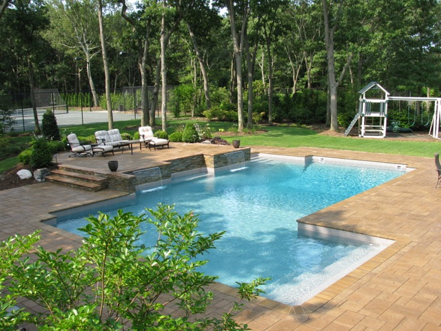 Salt Water Pool with Waterfalls (Long Island/NY):