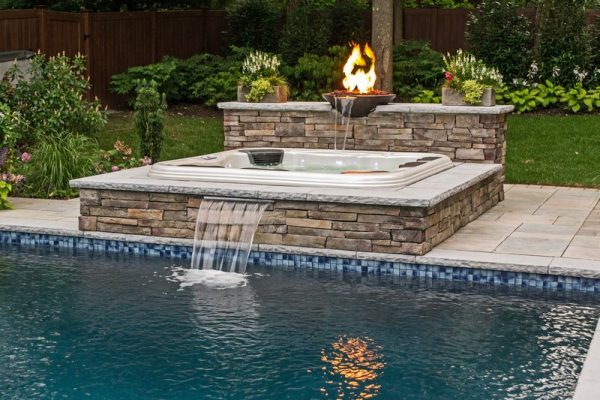 Custom Hot Tub With Waterfall (Long Island/NY):