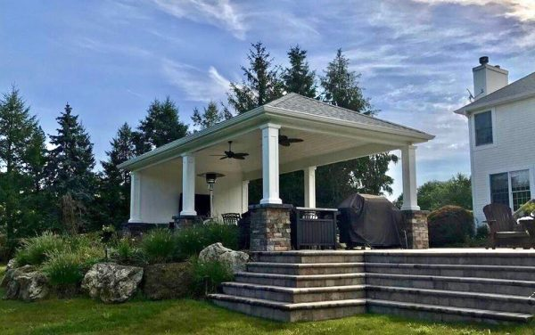 Backyard Pavilion with Ceiling Fans (Long Island/NY):