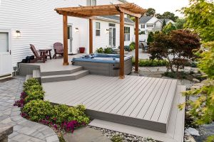 Bullfrog Spa, Deck, and Pergola