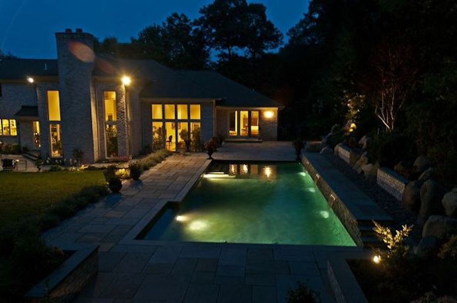 Pool Lighting (Oyster Bay Cove/NY):