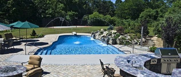 Pool Waterfalls – The Deck and Patio Company