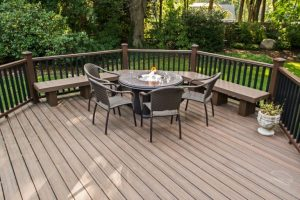 Deck and Patio Deck with Natural Gas Fire Pit