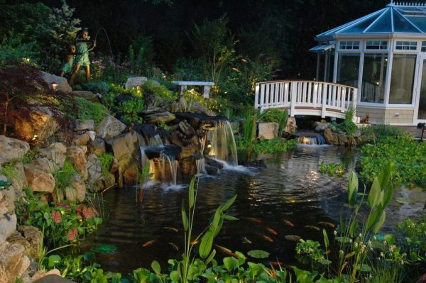 Pond With Waterfalls: