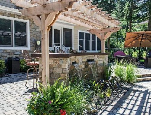 Get Ready for Summer with a Stone Bar and Trellis