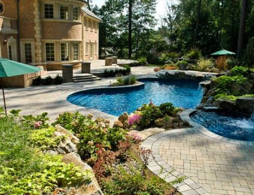 Creating a Lush Poolscape with Colorful Plantings
