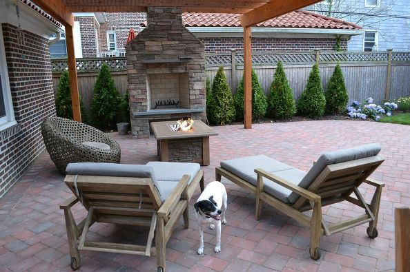 New Patio, Pergola and Fireplace.