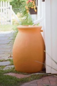 Contemporary Rain Barrel Urn/Gardeners.com