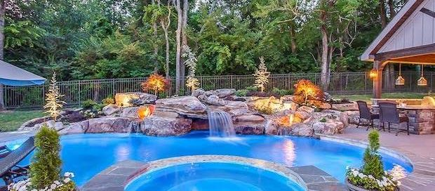 Completed TN Pool with Grotto