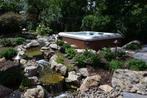 Deck and Patio Custom Hot Tub Installation