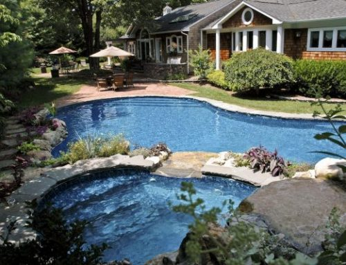 Pool, Spa, Pond & Stream In Keeping with Natural Surroundings