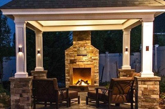 Custom Outdoor Fireplace: