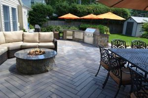 Deck and Patio Installed Techo-Bloc Pavers
