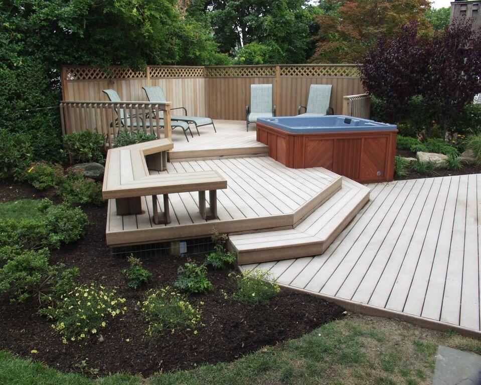 Backyard Upgrades on Backyard Trex Deck Ideas id=57360